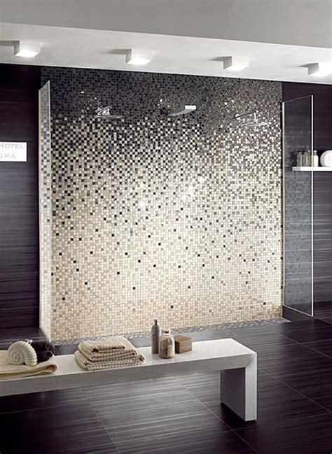 Bathroom Mosaic Ideas Bathroom On Pinterest Mosaic Tiles White Subway Tiles And Subway Bathroom Feature Wall