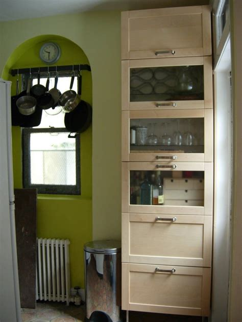 freestanding kitchen storage  wall cabinets ikea hackers