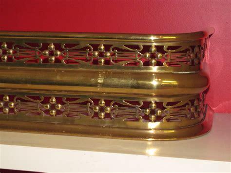 Antique English Pierced Brass Geo. III Fireplace Fender