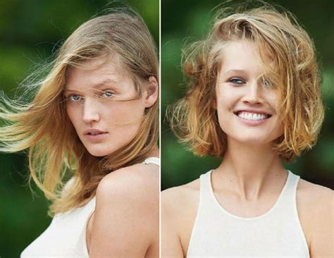 new haircut before and after leo dicaprio s girlfriend toni garrn new haircut for
