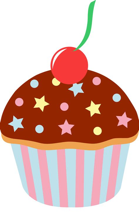 cupcake clipart chocolate cupcake with sprinkles and cherry free clip