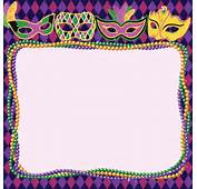 Mardi Gras Masks Beads Border Vector Art Getty Images