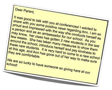 note home to parents template positivity notes the of ed