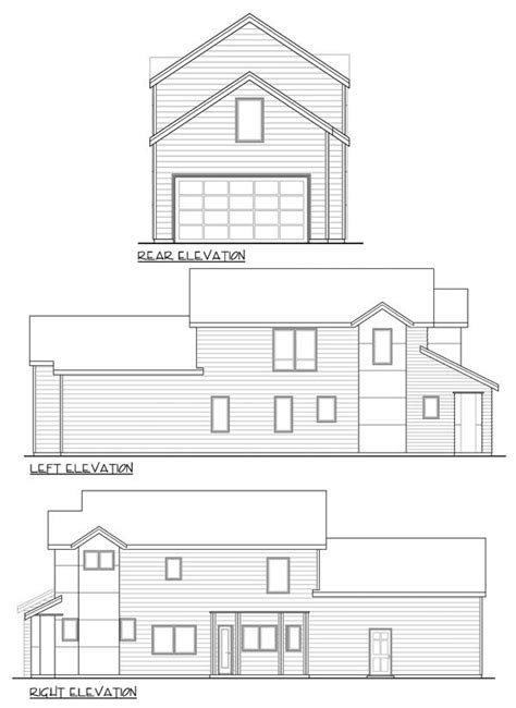 Townhouse Plans Narrow Lot by Narrow 3 Bed Townhouse Plan 72785da 1st Floor Master