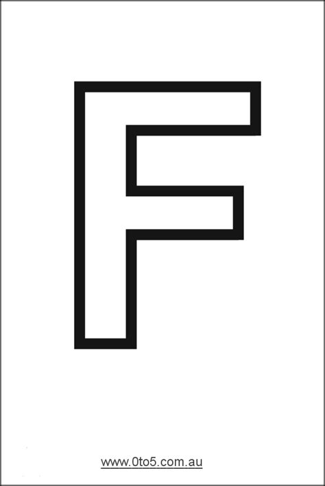 letter f printable template art education pinterest