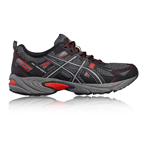 uk sports shoes asics venture 5 mens black trail running sports shoes