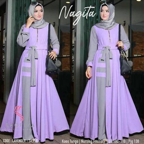 Baju Gamis Murah Keren baju muslim murah model keren modis ella202 diskon 30