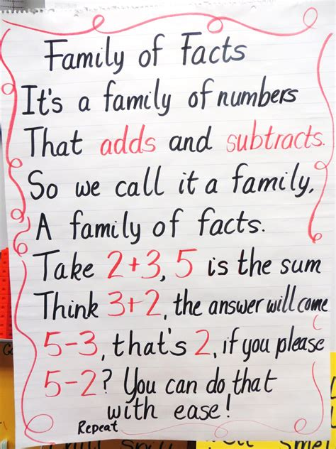 first grade information families of fact first grade wow life size fact family practice