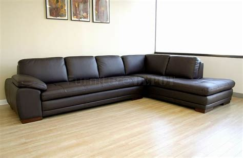 Modern Leather Sofa With Chaise Modern Sectional S With Chaise And Brown Tufted Leather Right Facing Chaise Modern Sectional