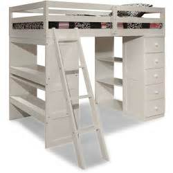 Canwood skyway twin loft bed with desk amp storage tower white