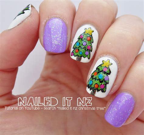 xmas nail art tutorial christmas tree nail art tutorial 12 days of christmas
