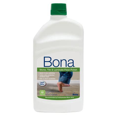 bona  oz high gloss stone tile  laminate floor polish wt  home depot