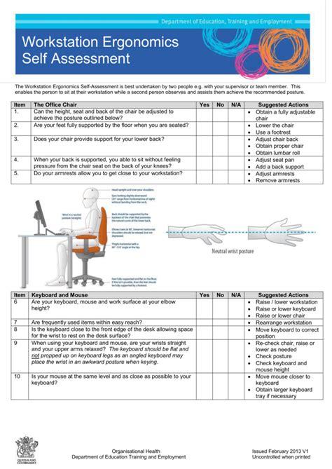 workstation assessment template workstation assessment template gallery template design