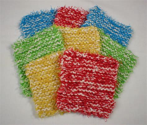 how to knit a scrubby crochet patterns using scrubby yarn manet for