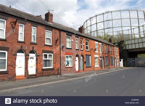 appartments in manchester terraced housing in manchester england uk stock photo