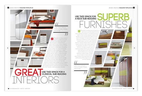 in design layout ideas magazine template indesign 56 page layout v2 on behance