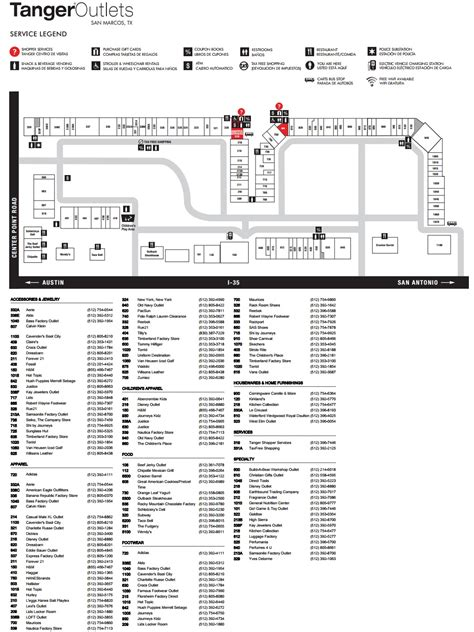 tanger outlet texas city map tanger outlets san marcos 101 stores outlet shopping in san marcos texas tx 78666