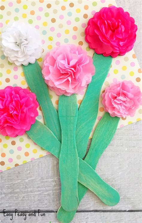 Tissue Paper Flower Craft Ideas - tissue paper flower craft easy peasy and