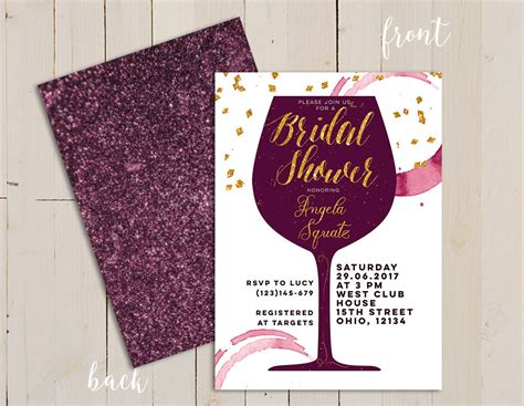 bridal shower invitations wine themed wine themed bridal shower invitation wine themed invitation