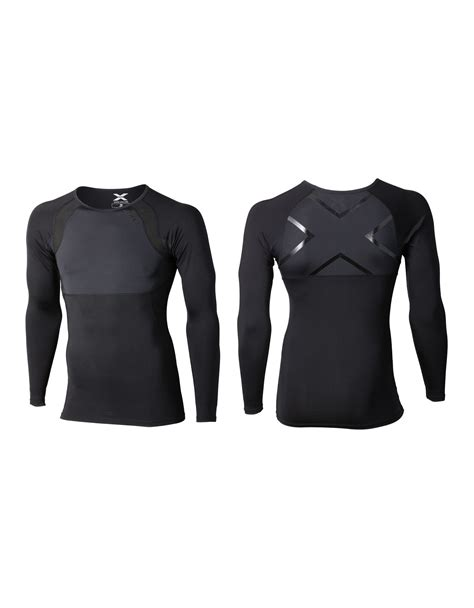Mens Logo Sleeve Compression 2xu recovery compression mens sleeve top black black