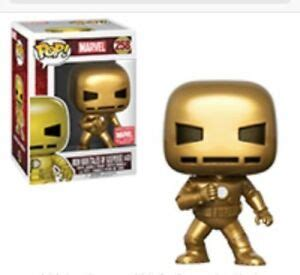 marvel collector corps exclusive gold iron man funko pop