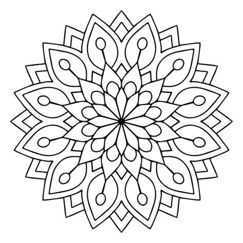imagenes en blanco y negro de mandalas lindo mandala floral blanco y negro descargar vectores