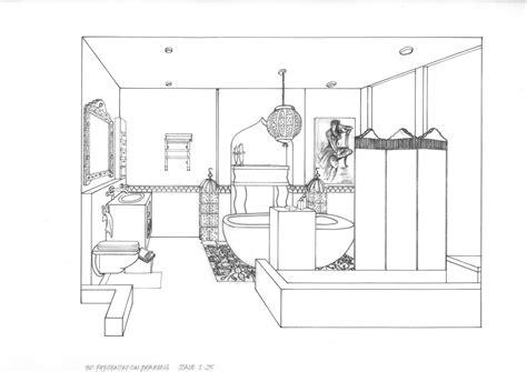 bathroom drawing bathroom point perspective basement original loversiq