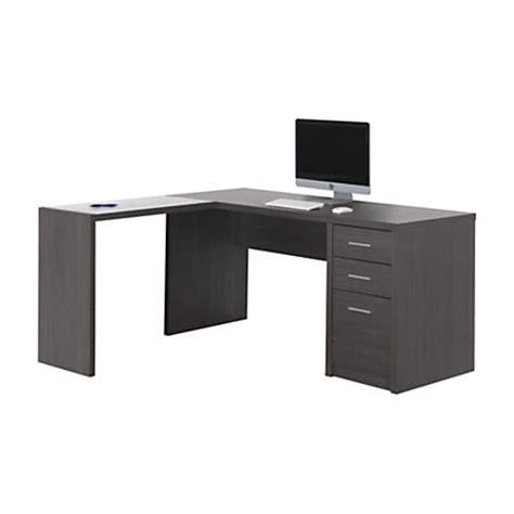 Monarch Specialties L Shaped Glass Computer Desk 60 W X 55 Office Depot Glass Computer Desk