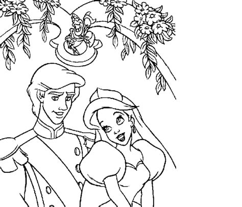 little mermaid wedding coloring pages ariel wedding coloring pages coloring pages