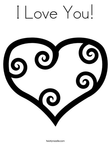 printable coloring pages i love you i love you coloring page twisty noodle