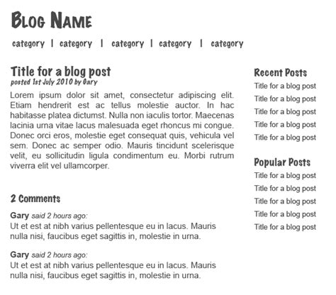 layout for blog most larger blogs may have a unique theme but each blog