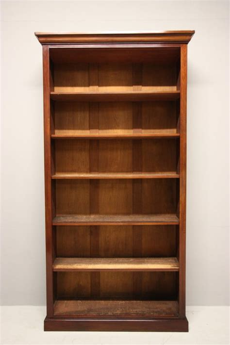 antique mahogany open bookcase antiques atlas
