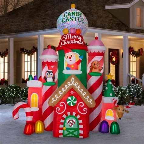 yard santa claus eraper around a tree on skis nutcracker decoration grinch up paw patrol inflatables wars