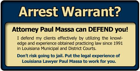 bench warrants in louisiana ouachita parish arrest warrant lawyer attorney paul m
