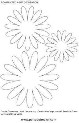 flower cutout card template paper flower
