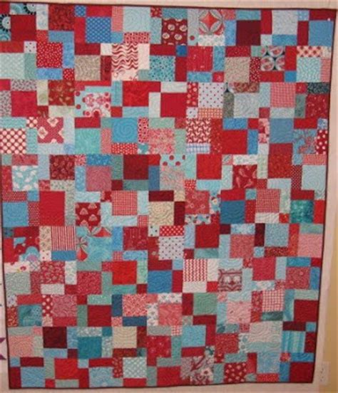 Split Nine Patch Quilt Pattern by Quilting Cactus Needle Quilts Fabric And More