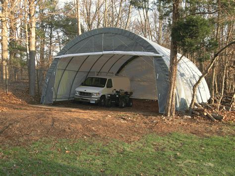 Portable Garage Shelters by Rhino Shelter Portable 3 Car Garage 30 X 30 X 15