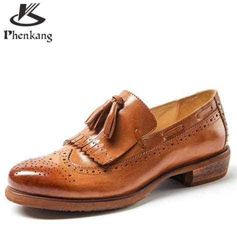 oxford loafers for buy 2016 genuine leather retro
