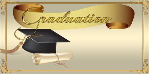Banners For Graduation School Banners Graduation Gold