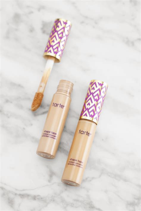 tarte light medium neutral tarte shape tape foundation and concealer review the
