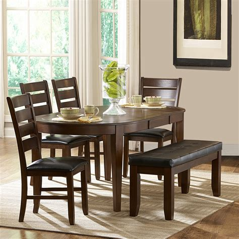 Oxford Creek Albany 6 Piece Oval Shape Dining Set Home Oval Dining Table Set For 6
