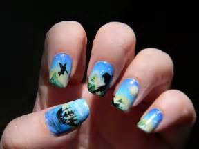 disney peter pan nail art manicure disney