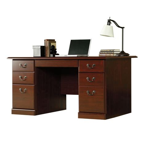 desk cherry shop sauder heritage hill classic cherry computer desk at