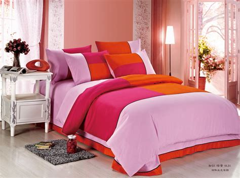 Orange And Pink Bedding by Colorful Mart March 2014