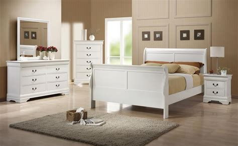 louis philippe bedroom set louis philippe white sleigh bedroom set from coaster