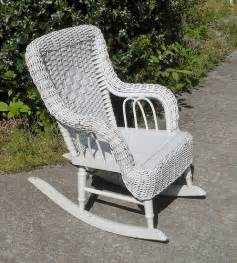 white wicker rocking chair vintage white wicker childs rocking chair wildroseprimit