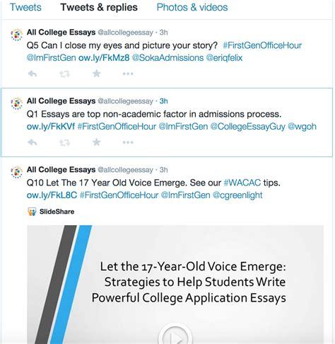 College Application Essay Tweet All College Application Essays