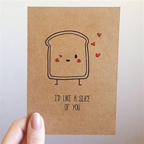 toast pun card toast bread food
