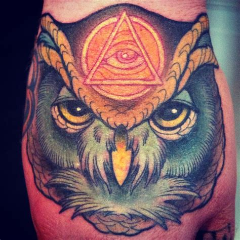 owl hand tattoo illuminati tattoos designs ideas and meaning tattoos