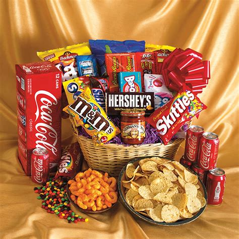 Food Gift Baskets - image gallery junk food gift baskets
